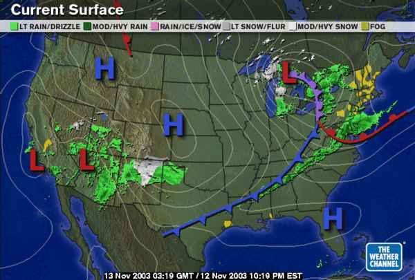 U S Weather Map
