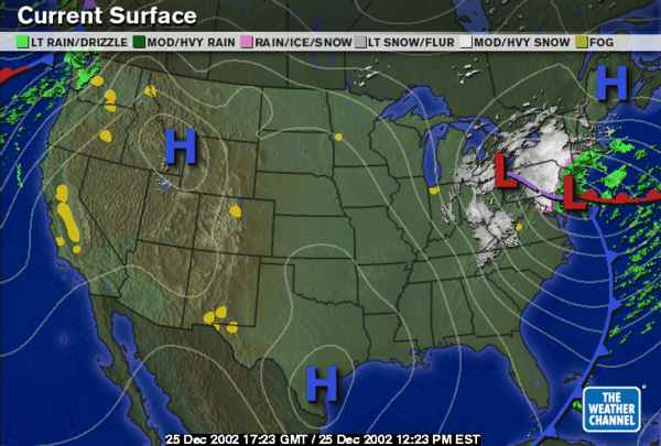 Weather Maps - Us weather map december