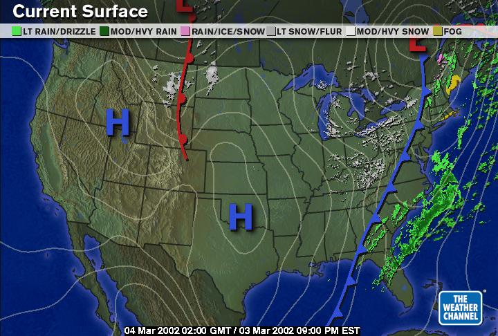 Weather Maps - Us weather map march