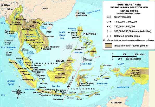 Southeast asia size the actual land area of southeast asia is about half that of the continental us or roughly equal to that of europe please wait for the map and more text gumiabroncs Gallery