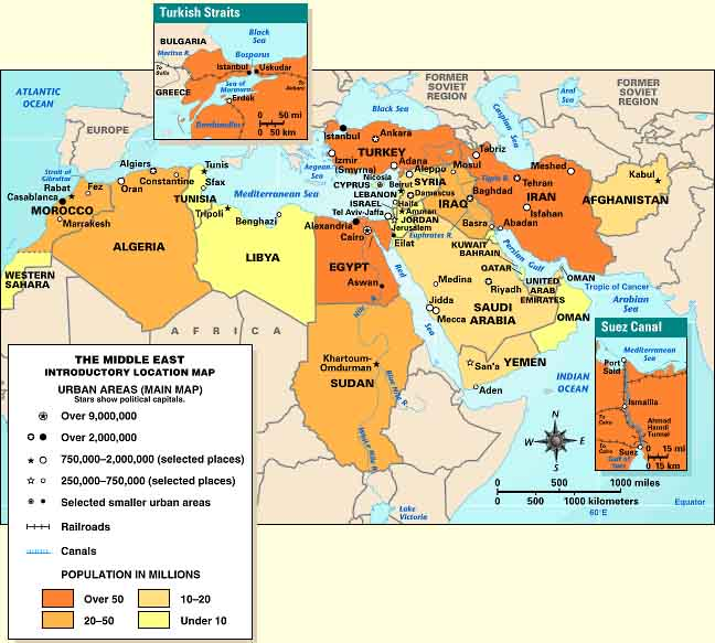 Middle east location the middle east spans six time zones from morocco to afghanistan and the middle east stretches from about 10 degrees to 40 degrees north of the equator gumiabroncs Gallery